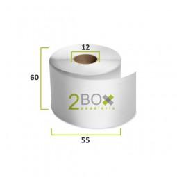 Rollo de papel térmico 60x55 (Caja 100 uds.)
