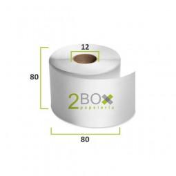 Rollo de papel térmico 80x80 (Caja 48 uds.)