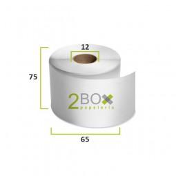 Rollo de papel autocopiativo 75x65 (Caja 80 uds.)