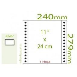 "Papel Continuo blanco 11""x24 cm (Microx4) 1..."
