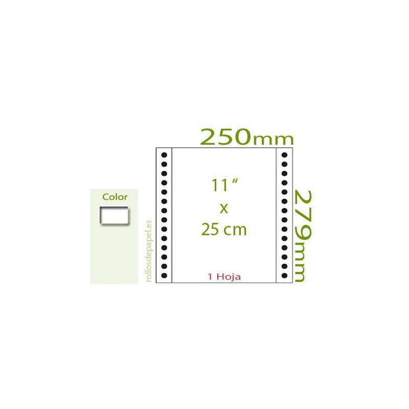 "Papel Continuo blanco 11""x25 cm 1 Tanto (Caja..."