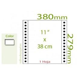 "Papel Continuo blanco 11""x38 cm 1 Tanto (Caja..."