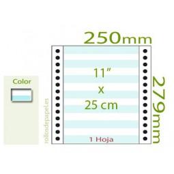 """Papel Continuo pautado 11""""x25 cm 1 Tanto (Caja..."""