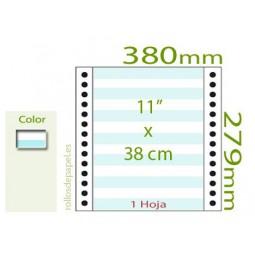 """Papel Continuo pautado 11""""x38 cm 1 Tanto (Caja..."""