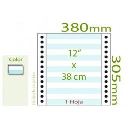 """Papel Continuo pautado 12""""x38 cm 1 Tanto (Caja..."""