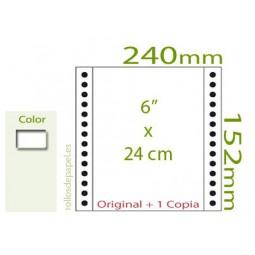 """Papel Continuo Autocopiativo blanco 6""""x24 cm 2..."""