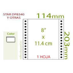 "Papel Continuo blanco 8""x11.4 cm 1 Tanto (Caja..."